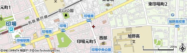峯蘭印場店周辺の地図