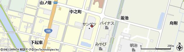 愛知県稲沢市平和町横池(三番割)周辺の地図