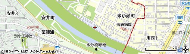 愛知県名古屋市北区成願寺町米ケ瀬周辺の地図