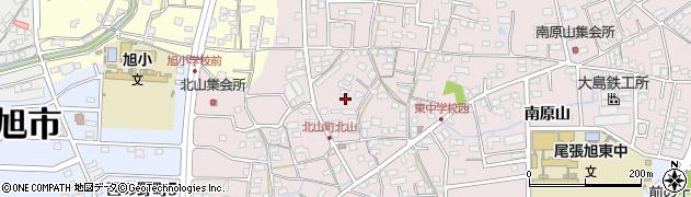 愛知県尾張旭市北山町周辺の地図