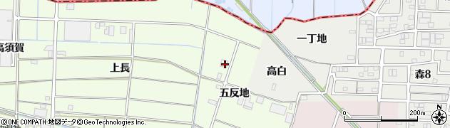 愛知県あま市二ツ寺五反地周辺の地図