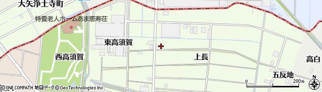 愛知県あま市二ツ寺(上長)周辺の地図
