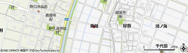 愛知県稲沢市坂田町(乗越)周辺の地図
