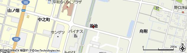 愛知県稲沢市平和町下三宅(菱池)周辺の地図