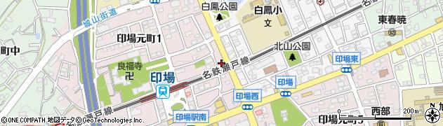 雅味周辺の地図