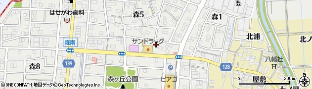シャトレーゼ あま店周辺の地図