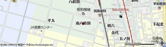 愛知県愛西市渕高町(南八畝割)周辺の地図