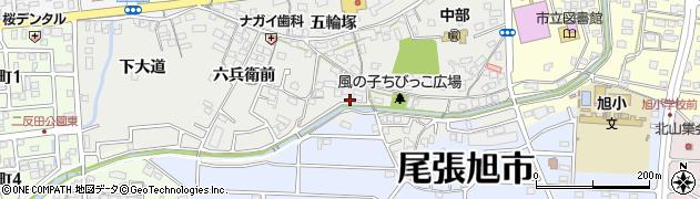 愛知県尾張旭市西大道町(前田)周辺の地図
