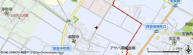 滋賀県彦根市安食中町周辺の地図