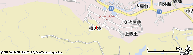 愛知県豊田市北一色町(梅ノ木)周辺の地図