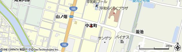 愛知県稲沢市平和町横池(中之町)周辺の地図