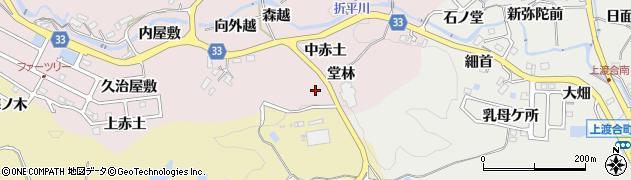愛知県豊田市折平町(堂林)周辺の地図