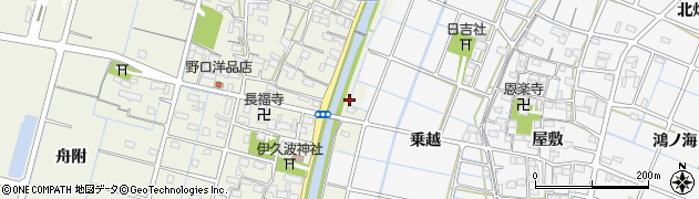 愛知県稲沢市平和町下三宅(前浪)周辺の地図