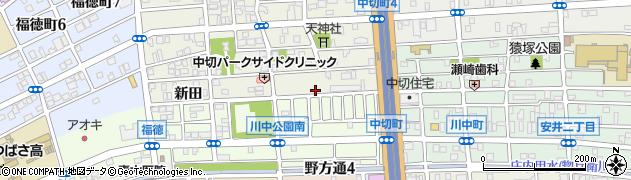 愛知県名古屋市北区中切町(石原)周辺の地図