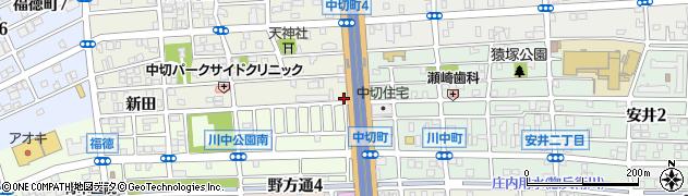 愛知県名古屋市北区中切町野間周辺の地図