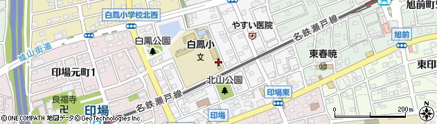 愛知県尾張旭市白鳳町周辺の地図