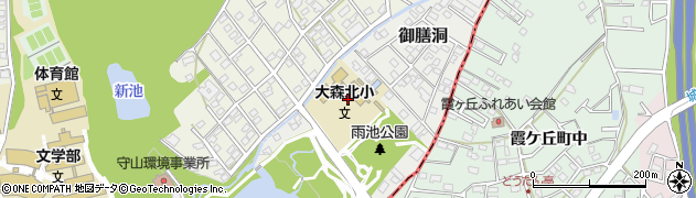 愛知県名古屋市守山区御膳洞周辺の地図