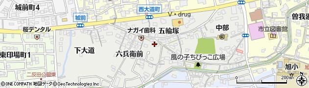 愛知県尾張旭市西大道町周辺の地図