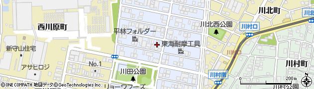 愛知県名古屋市守山区川宮町周辺の地図