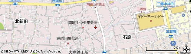 愛知県尾張旭市南原山町周辺の地図