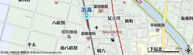 愛知県愛西市渕高町(五ノ割)周辺の地図