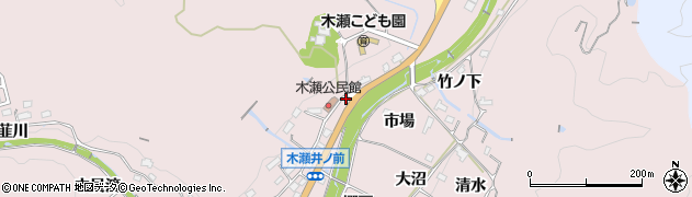 愛知県豊田市木瀬町(井ノ平)周辺の地図