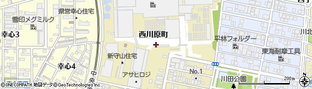 愛知県名古屋市守山区西川原町周辺の地図