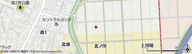 愛知県あま市森穴田周辺の地図