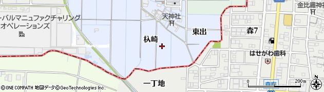 愛知県稲沢市堀田町周辺の地図