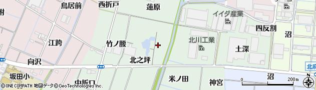 愛知県稲沢市目比町(北之坪)周辺の地図