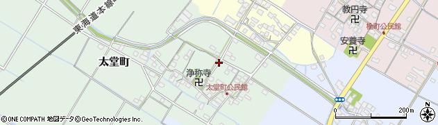 滋賀県彦根市太堂町周辺の地図