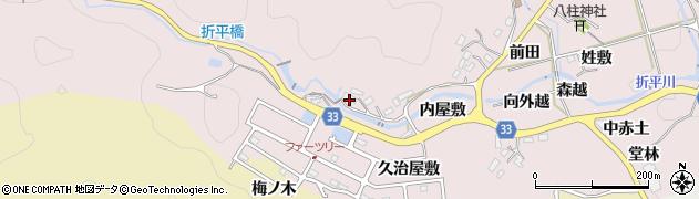 愛知県豊田市折平町(西屋敷)周辺の地図