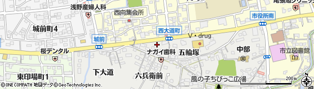 愛知県尾張旭市西大道町(八瀬の木前)周辺の地図