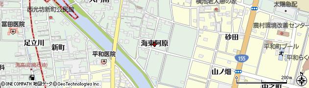 愛知県稲沢市平和町西光坊(海東阿原)周辺の地図