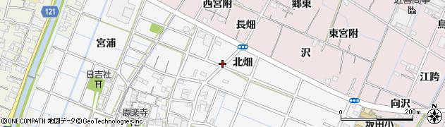 愛知県稲沢市坂田町(北畑)周辺の地図