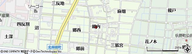 愛知県稲沢市北麻績町(郷内)周辺の地図