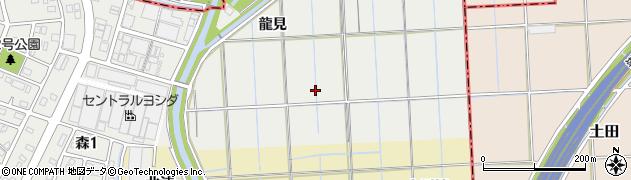 愛知県あま市森(国田)周辺の地図