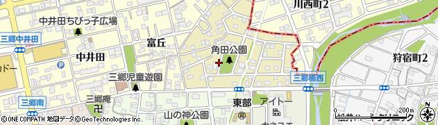 愛知県尾張旭市東三郷町周辺の地図