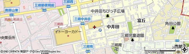 愛知県尾張旭市三郷町(中井田)周辺の地図