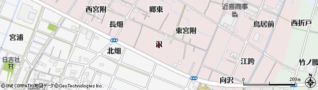 愛知県稲沢市今村町(沢)周辺の地図