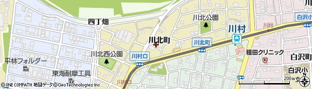 愛知県名古屋市守山区川北町周辺の地図