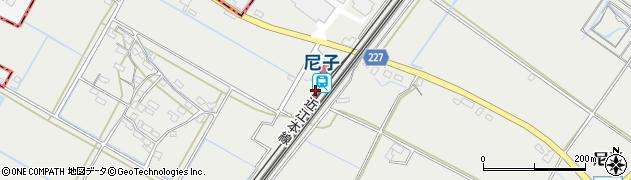 滋賀県犬上郡甲良町周辺の地図
