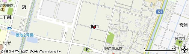 愛知県稲沢市平和町下三宅(折口)周辺の地図