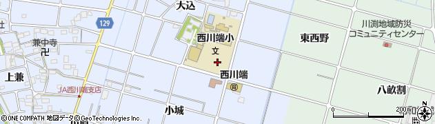 愛知県愛西市西川端町(寺東)周辺の地図