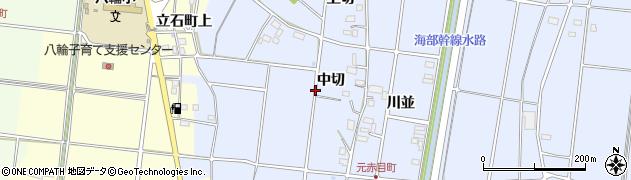 愛知県愛西市元赤目町周辺の地図