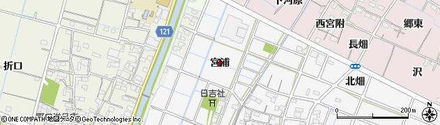 愛知県稲沢市坂田町(宮浦)周辺の地図