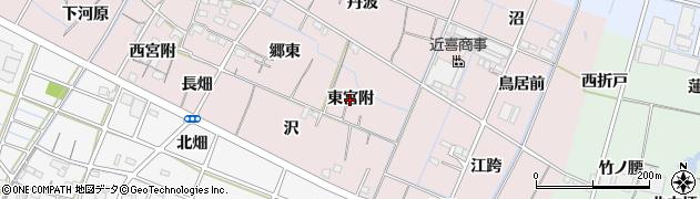 愛知県稲沢市今村町(東宮附)周辺の地図