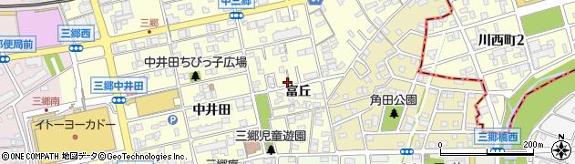 愛知県尾張旭市三郷町(富丘)周辺の地図