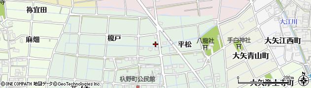 愛知県稲沢市込野町(榎戸)周辺の地図