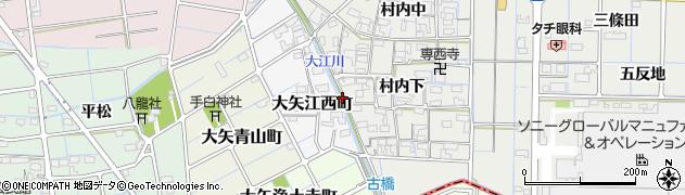愛知県稲沢市大矢町(彦左西)周辺の地図